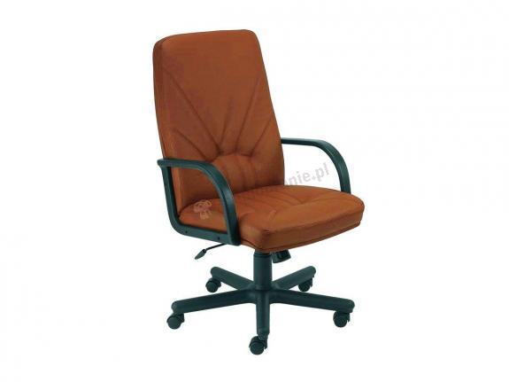 Manager KD fotel skórzany do gabinetu brązowy