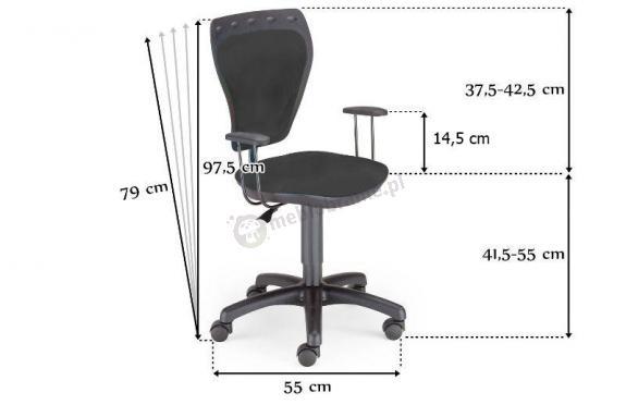 Krzesło obrotowe Ministyle GTP White Kot 54,5cm x 79 97,5cm