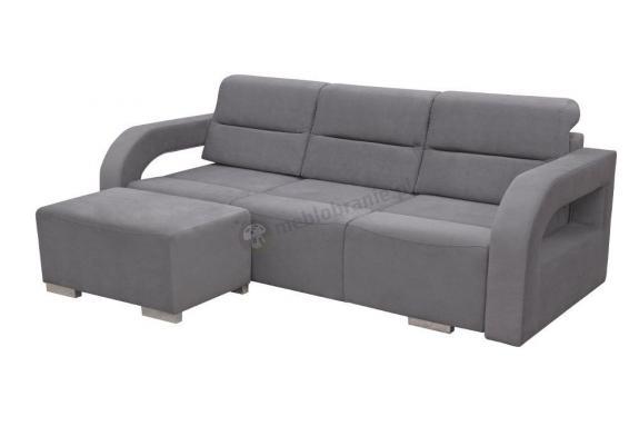 Sofa rozkładana 3 osobowa z pufą Aliss - Kinas Meble