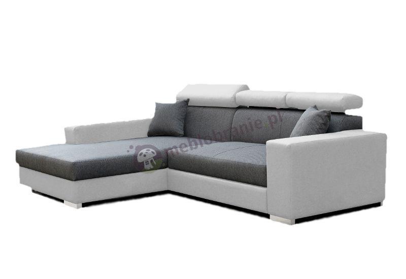Sofa narożna rozkładana z zagłówkami Mexico De Lux