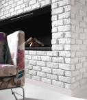 Cegła dekoracyjna Biała - Retro Vanilla Incana - narożnik