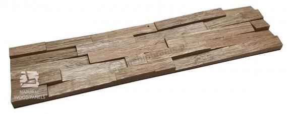 Panele Drewniane Dąb cegiełka drobna ciosana *004 - Natural Wood Panels