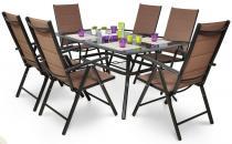 Zestaw DUOTEX ALU 150-020 Kawowy z 4 krzesłami