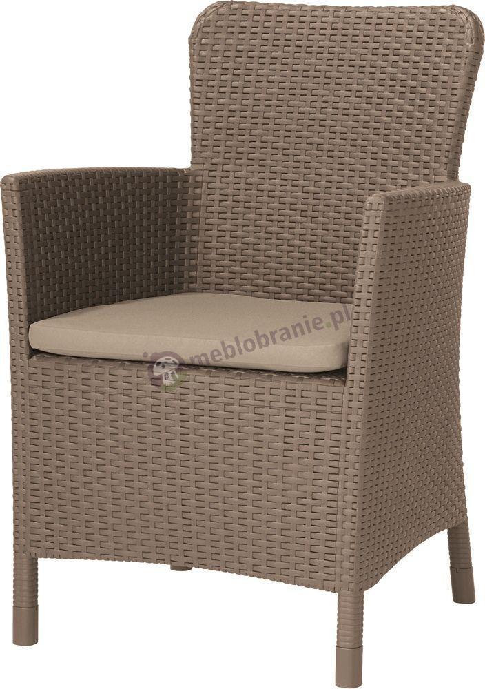 Fotel ogrodowy Rattan Style Miami DC cappucino