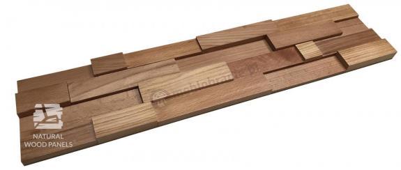 """Panele Drewniane Buk – cegiełka """"35"""" 3D *017 - Natural Wood Panels"""