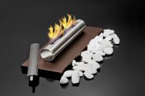 Biokominek Globmetal - Stainless wolnostojący stołowy Brązowy