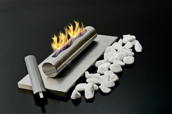 Biokominek Globmetal - Stainless wolnostojący stołowy INOX nierdzewny szczotkowany