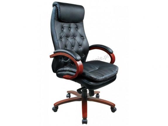 Elegancki fotel gabinetowy Odom Black PU