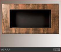 Biokominek ścienny Kami - Acara Rust mat