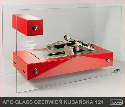 Biokominek wolnostojący Kami - Apo Glass Czerwony