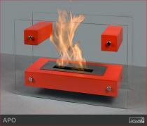 Biokominek wolnostojący Kami - Apo II Glass Czerwony