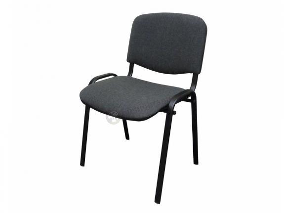 Krzesło ISO Black C38 - tapicerowane szare - oferta Pakiet