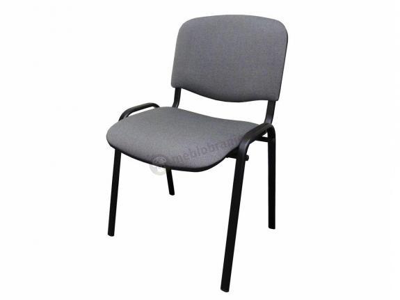 Krzesło ISO Black C73 - tapicerowane szaro-czarne - oferta Pakiet
