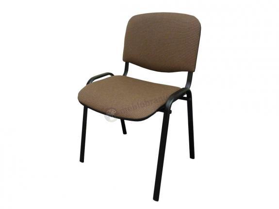 Krzesło ISO Black C24 - tapicerowane brązowo-beżowe - oferta Pakiet