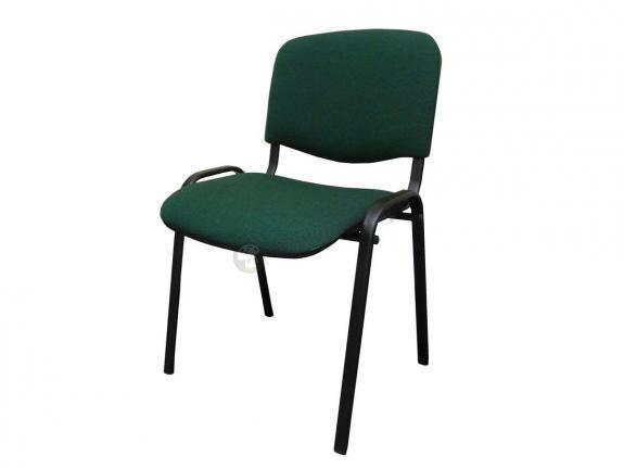 Krzesło ISO Black C32 - tapicerowane czarno-zielone - oferta Pakiet