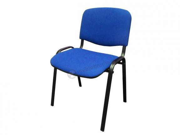 Krzesło ISO Black C6 - tapicerowane niebieskie - oferta Pakiet