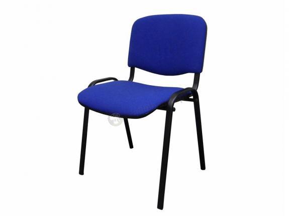 Krzesło ISO Black C14 - tapicerowane niebiesko-czarne - oferta Pakiet