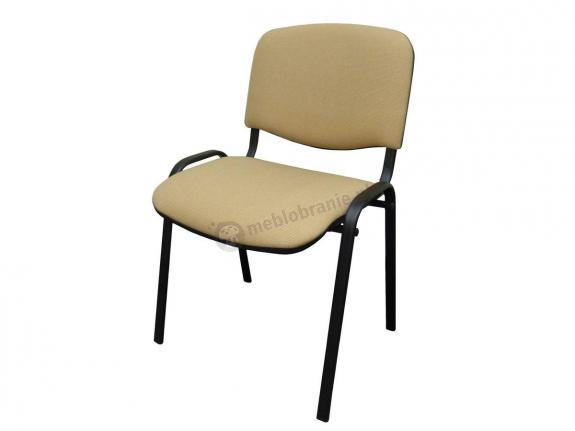 Krzesło ISO Black C18 - tapicerowane beżowo-brązowe - drobna kratka - oferta Pakiet