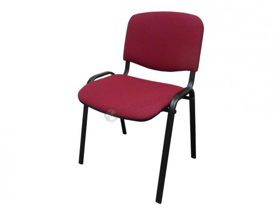 Krzesło ISO Black C29 - tapicerowane bordowe - oferta Pakiet