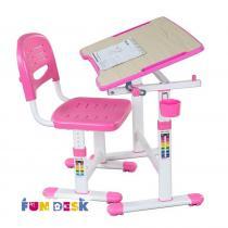 Piccolino II Pink biurko dla dziecka z regulacją wysokości + krzesło