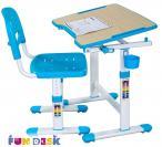 Piccolino II Blue biurko dla dziecka z regulacją wysokości i krzesło