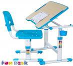 Piccolino II Blue biurko dla dziecka z regulacją wysokości