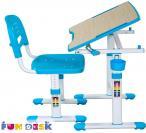 Piccolino II Blue biurko dla dziecka z regulacją wysokości regulacja blatu