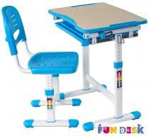 Piccolino Blue biurko rosnące z dzieckiem i krzesło Fun Desk