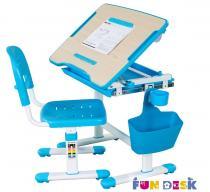 Bambino Blue regulowane biurko dla dziecka z krzesłem Fun Desk