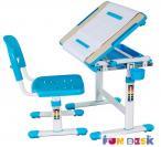 Bambino Blue regulowane biurko dla dziecka podniesiony pulpit
