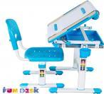 Bambino Blue regulowane biurko dla dziecka regulacja blatu