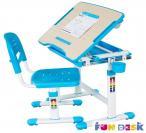 Bambino Blue regulowane biurko dla dziecka maksymalnie podniesiony blat