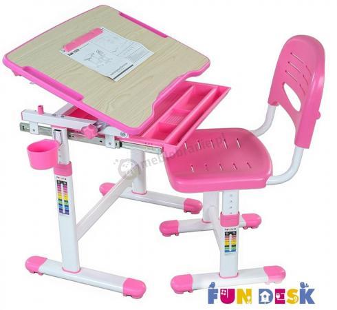 Bambino Pink biurko regulowane dla dzieci Fun Desk