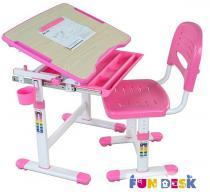 Bambino Pink biurko regulowane dla dzieci i krzesło Fun Desk