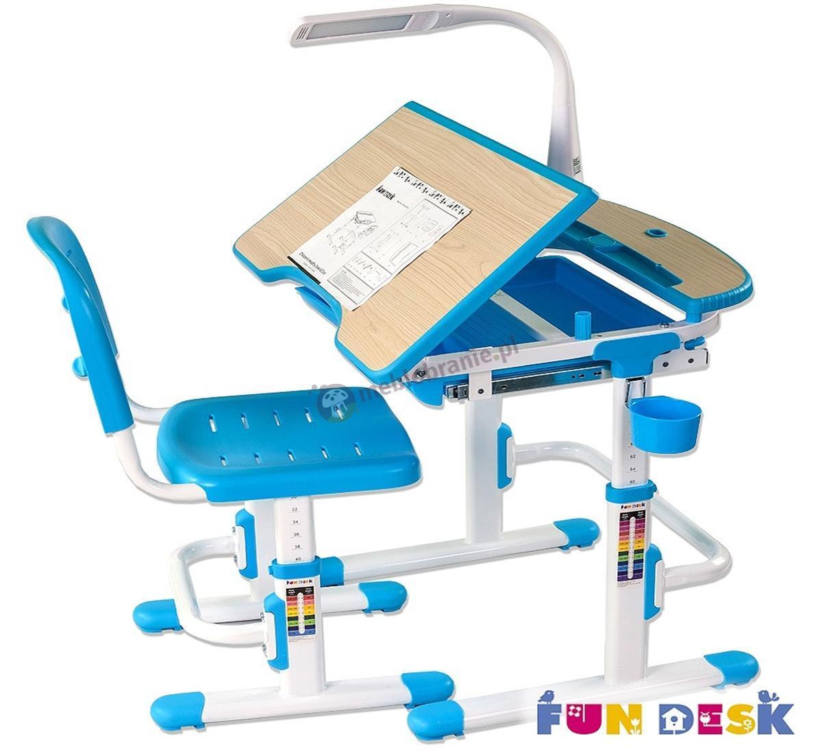 Sorriso Blue małe biurko pod laptopa i krzesło Fun Desk