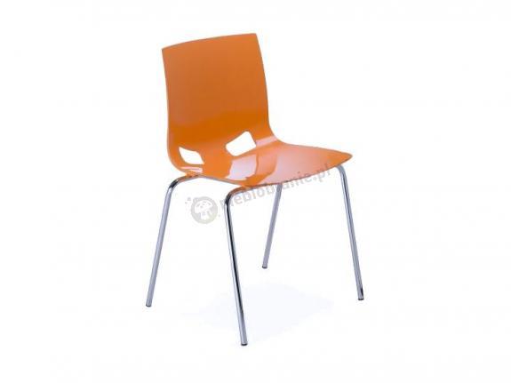 Fondo krzesło do jadalni - Pomarańczowy