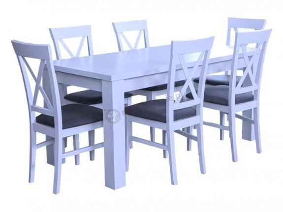 Biały Stół I 6 Krzeseł Amelia 160 K6 X Meblobraniepl