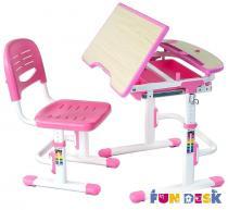 Sorriso Pink biurko dziecięce regulowane z krzesełkiem Fun Desk