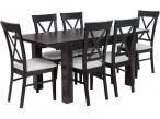 Stół i krzesła do jadalni Amelia 120-K6 (X) Wenge