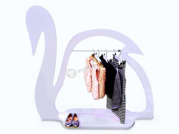Wieszak Łabędź - Dziecięcy wieszak na ubrania dla dziewczynki