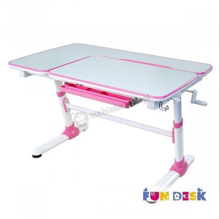Invito Pink biurko z regulacją wysokości dla dzieci