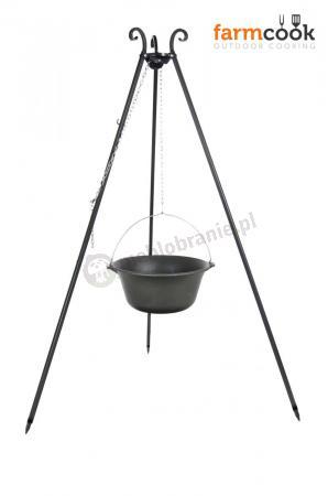 Kociołek żeliwny 16L na trójnogu Viking - Farmcook
