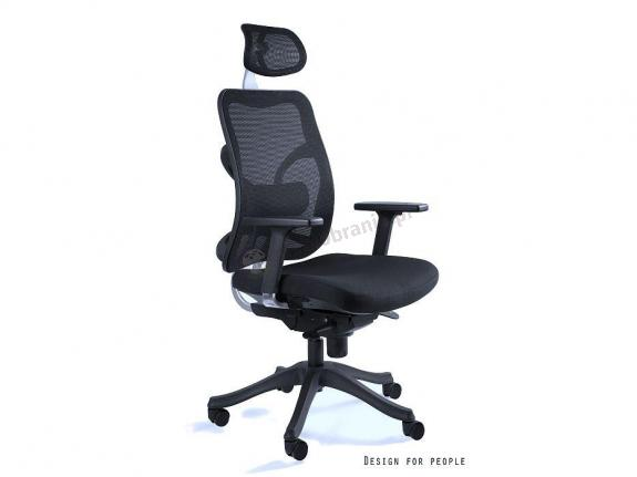 Fotel Concept - wygodny fotel biurowy z zagłówkiem