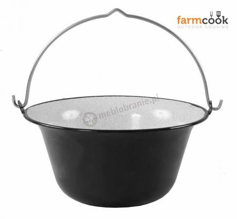 Kociołek do gotowania na ognisku emaliowany 10L - Farmcook
