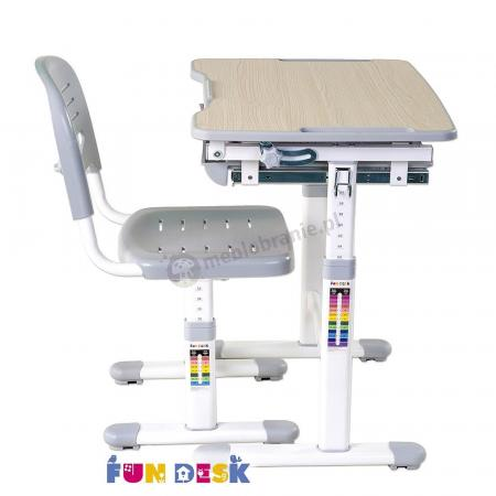 Piccolino Grey biurko z regulowanym blatem Fun Desk