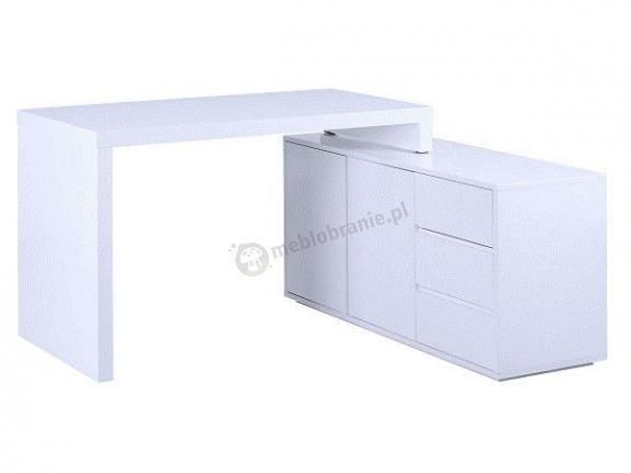 Tivano biurko nowoczesne białe i szafka z szufladami pod biurko
