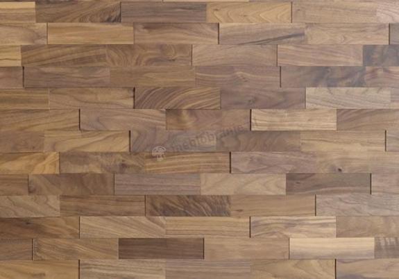 Orzech AMERYKAŃSKI Cegiełka Szeroka *036 - Natural Wood Panels - 1m2