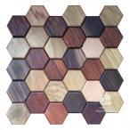 Hexagon series - MIX - Natural Wood Panels