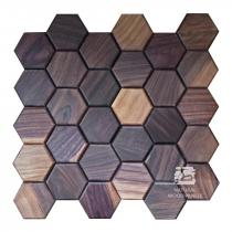 Hexagon series – 6 Orzech amerykański - Natural Wood Panels