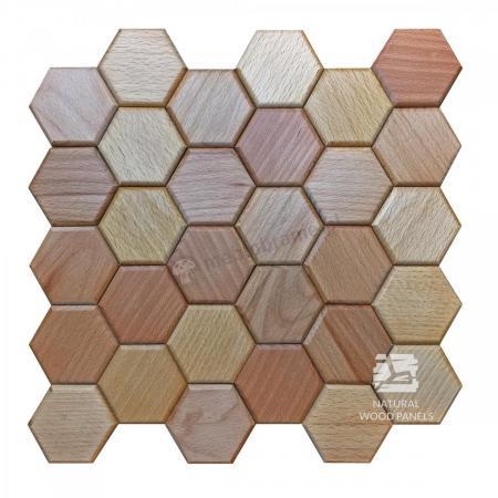 Hexagon series – Buk - Natural Wood Panels